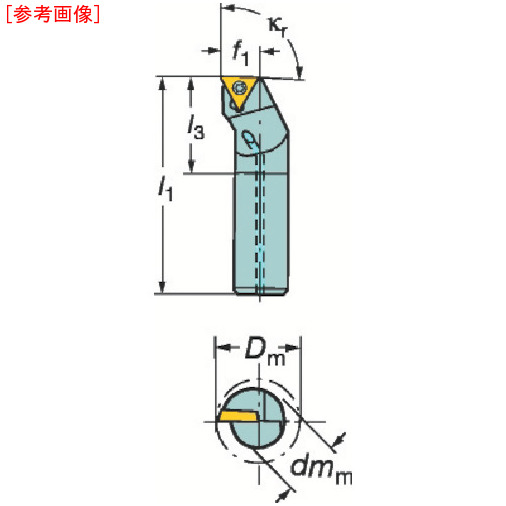 サンドビック サンドビック コロターン111 ポジチップ用ボーリングバイト F12QSTFPR09R