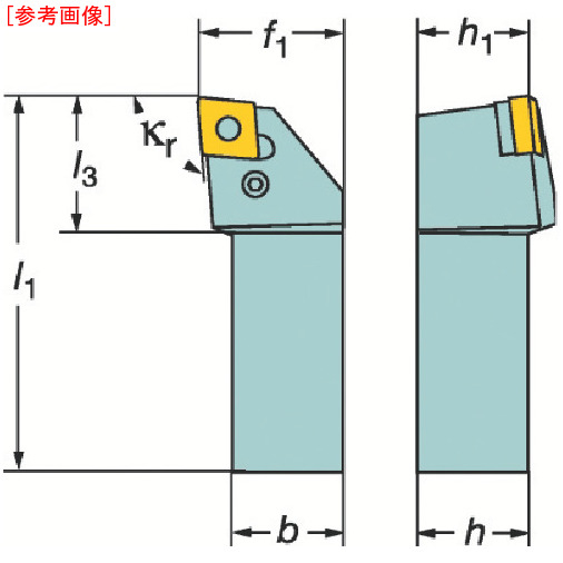 サンドビック サンドビック T-Max P ネガチップ用シャンクバイト PCLNL2525M12-1