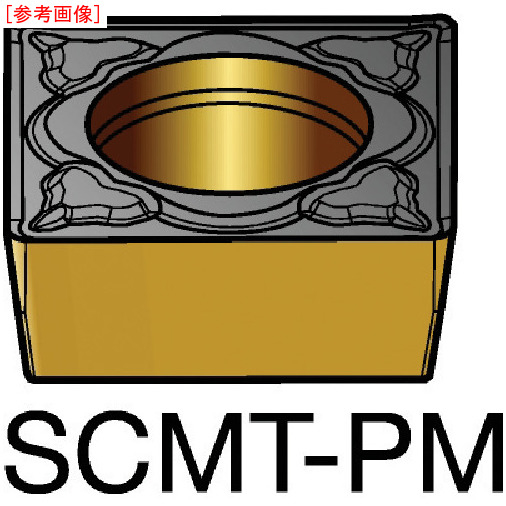 サンドビック 【10個セット】サンドビック コロターン107 旋削用ポジ・チップ 5015 SCMT120408PM-4