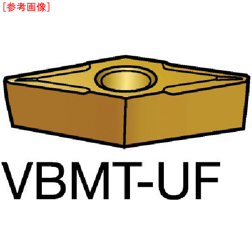 サンドビック 【10個セット】サンドビック コロターン107 旋削用ポジ・チップ 1125 VBMT110204UF-2
