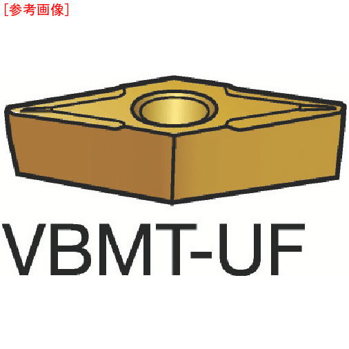 サンドビック 【10個セット】サンドビック コロターン107 旋削用ポジ・チップ 235 VBMT110208UF-1
