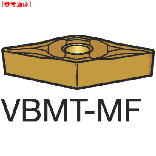 サンドビック 【10個セット】サンドビック コロターン107 旋削用ポジ・チップ 1105 VBMT160408MF-2