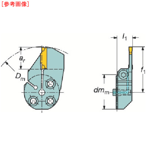 サンドビック サンドビック コロターンSL コロカット1・2用突切り・溝入れブレード 57032L123H23B