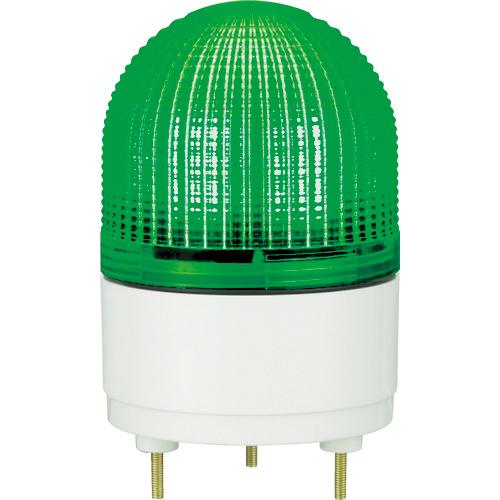 パトライト パトライト KHE型 LED表示灯 Φ100 点滅・流動・ストロボ発光 緑 KHE-24-G