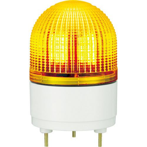 パトライト パトライト KHE型 LED表示灯 Φ100 点滅・流動・ストロボ発光 黄 KHE-24-Y