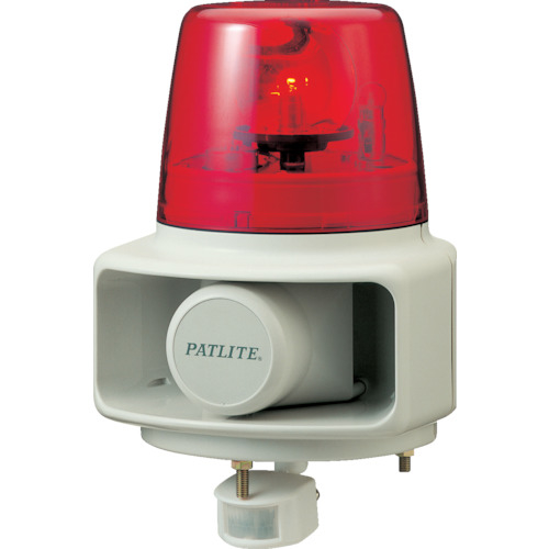 パトライト パトライト 電子音報知器 センサー付回転灯 赤 RTS-100F-R