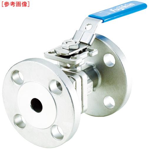 フジキン フジキン ステンレス鋼製1MPaフランジ式2ピースボール弁40A(1 1/2) UBV21J10RHALX