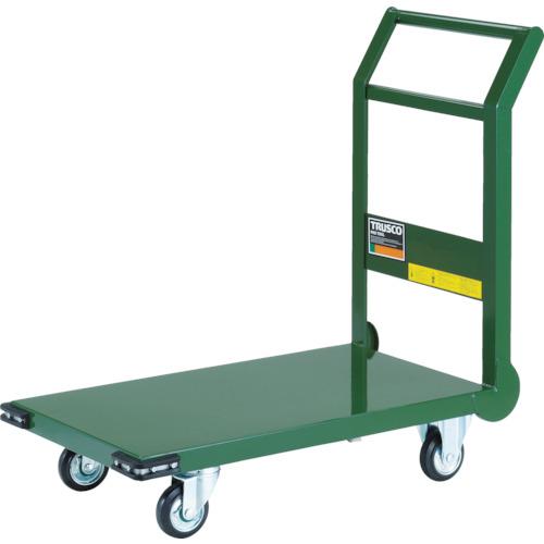 トラスコ中山 TRUSCO 鋼鉄製運搬車 800X450 Φ100プレス車 緑 4989999015027