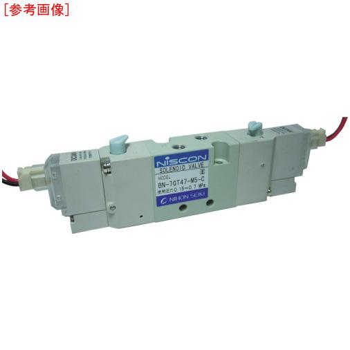 日本精器 日本精器 4方向電磁弁M5ダブルDC24V7GT BN7GT47M5CF24