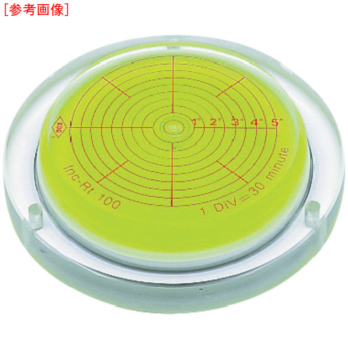 アカツキ製作所 KOD 取付穴付角度計付丸台型アイベル水平器 INCRT150