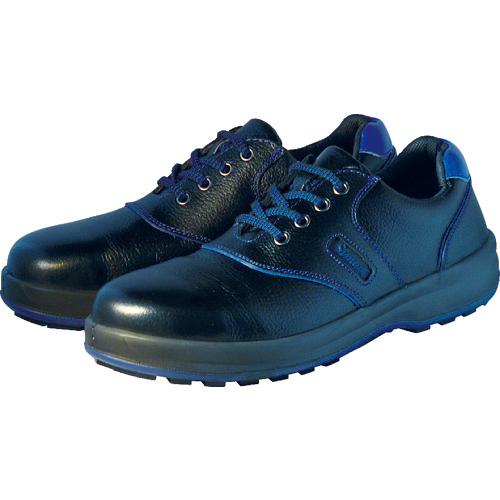 シモン シモン 安全靴 短靴 SL11-BL黒/ブルー 23.5cm SL11BL23.5