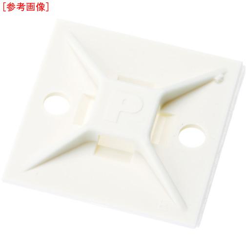 パンドウイットコーポレーション パンドウイット マウントベース アクリル系粘着テープ付き 白 (500個入) ABM112ATD