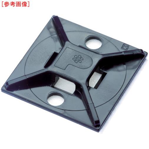 パンドウイットコーポレーション パンドウイット マウントベース アクリル系粘着テープ付き 耐候性黒(500個入) ABM112ATD0