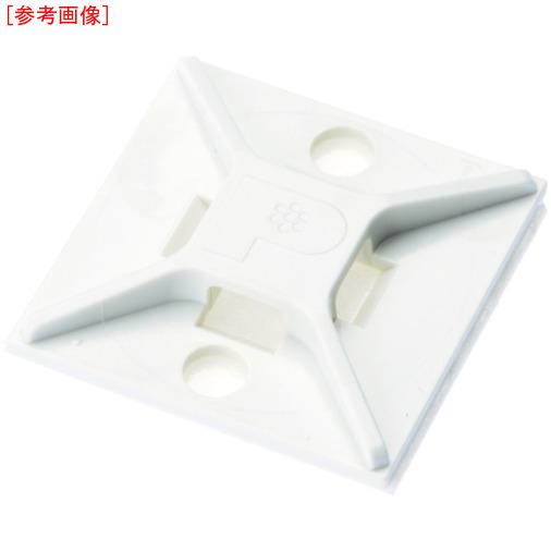 パンドウイットコーポレーション パンドウイット マウントベース ゴム系粘着テープ付き 白 (500個入) ABM2SAD