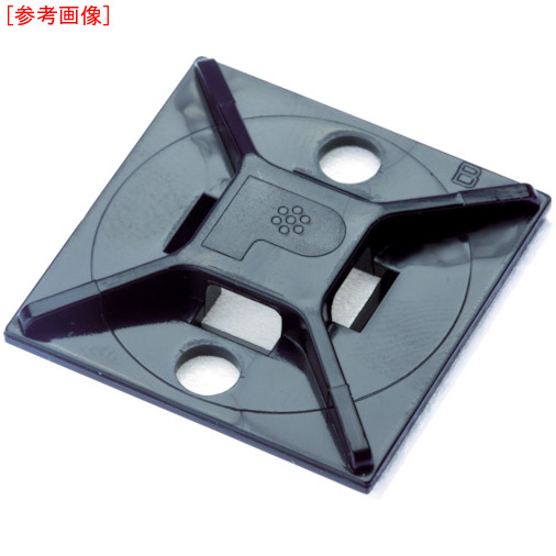 パンドウイットコーポレーション パンドウイット マウントベース アクリル系粘着テープ付き 耐候性黒(500個入) ABM2SATD0