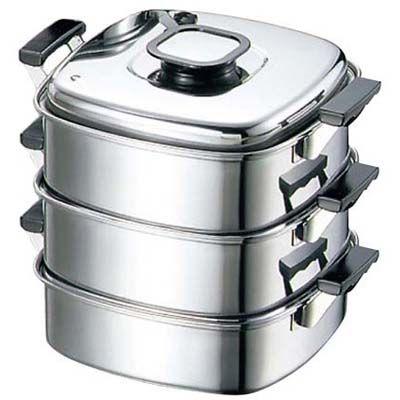 その他 モモ 18-0 プレス 角蒸器 3段 27 EBM-0472800