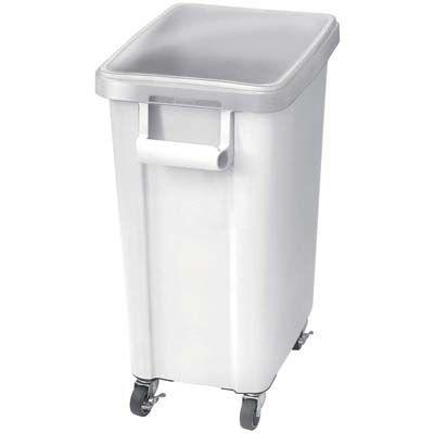 その他 リス 材料保管容器(キャスター付)70L ホワイト(W) EBM-0560500