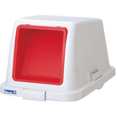 その他 カラー分類ボックス70L フタ プッシュ用 レッド EBM-0600300
