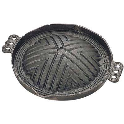 送料無料 格安 トキワ 往復送料無料 鉄製 ジンギスカン鍋 穴無 丸型 QGV14026 26 CR-17