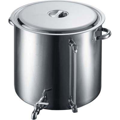 その他 EBM 18-8 蛇口付 スープ寸胴鍋(水量計付)80型 EBM-3584300