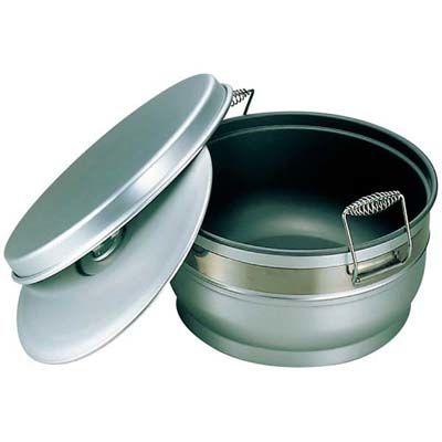 その他 アルマイト スミフロン 二重食缶(お枢型)264-B 10L EBM-6704600