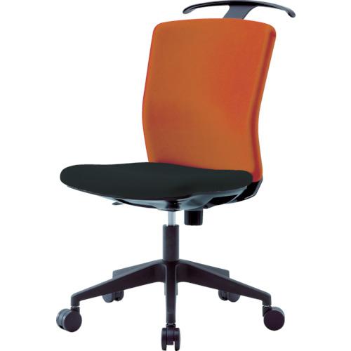 アイリスチトセ アイリスチトセ ハンガー付回転椅子(フリーロッキング) オレンジ/ブラック HGXCKR46M0FOG