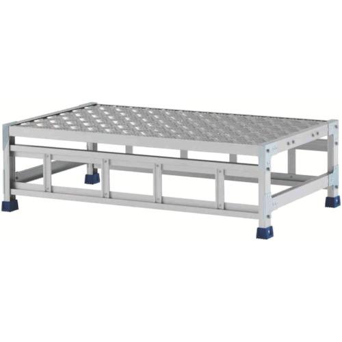 アルインコ アルインコ 作業台(天板縞板タイプ)1段 天板寸法1000×600mm高0.3m CSBC131WS