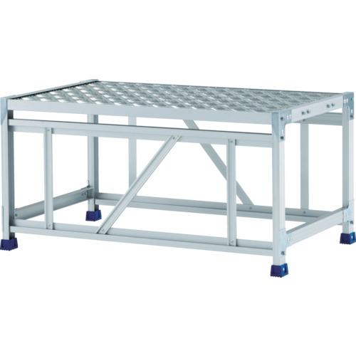 アルインコ アルインコ 作業台(天板縞板タイプ)1段 天板寸法1000×600mm高0.5m CSBC151WS