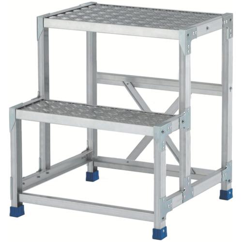 アルインコ アルインコ 作業台(天板縞板タイプ)2段 CSBC276S