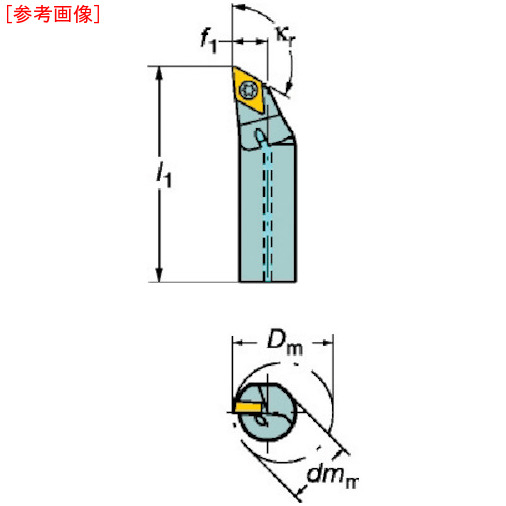 サンドビック サンドビック コロターン107 ポジチップ用ボーリングバイト A16KSDXCR07R