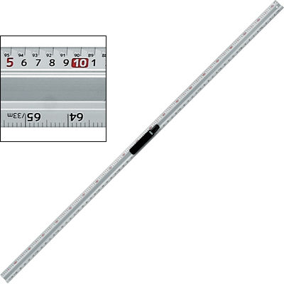 新潟精機 アルミカットスケールハンドル付快段目盛 200cm ACS-200H 4975846661899