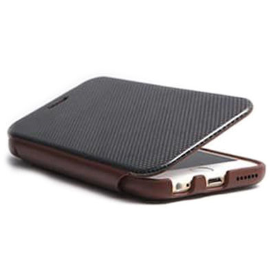 Deff Carbon Fiber & Leather Case for iPhone6 Brown DCS-IP6LCABR