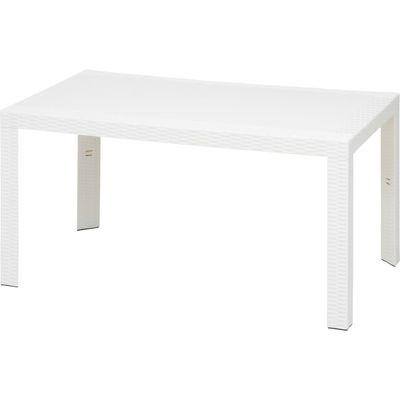 不二貿易 ステラ テーブル 80×140 ホワイト URANO FJ-12518【納期目安:5/上旬入荷予定】