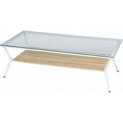 不二貿易 ガラスリビングテーブル クレア 120幅 NA CLARA120 FJ-96228