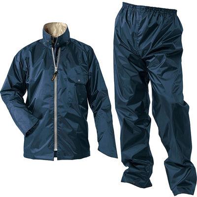Makku(マック) マック ライジング マック 全3色 6サイズ レインスーツ 上下 ネイビー L 2レイヤー 止水テープ フード着脱式 DD-08509