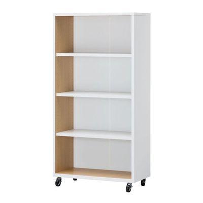 白井ホーム ファイル、書籍などのオフィスのベーシック収納アイテム オープンラック:キャスター付 OF2-1575C