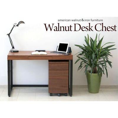 市場(Marche) Walnut Desk ChestW340 (ブラウン) K-2547-BR【納期目安:05/中旬入荷予定】