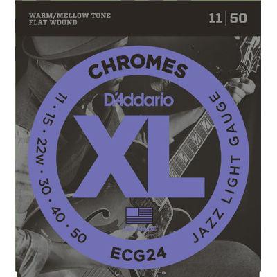 DADDARIO 【10個セット】ダダリオ D'Addario ECG24 フラットワウンド弦 0019954147044