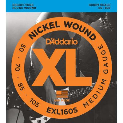 DADDARIO 【5個セット】EXL160S ダダリオ エレキベース弦 Short 0019954925451