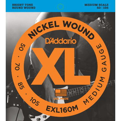 DADDARIO 【5個セット】EXL160M ダダリオ エレキベース弦 Medium 0019954925468