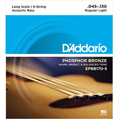DADDARIO 【5個セット】D'Addario Phosphor Bronze Acoustic Bass Strings EPBB170-5 0019954961152