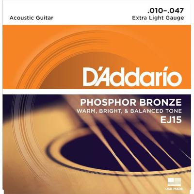 DADDARIO 【10個セット】D'Addario ダダリオ アコースティックギター弦 フォスファーブロンズ Extra Light .010-.047 EJ15 0019954121136