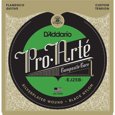 DADDARIO 【10個セット】EJ25B ダダリオ クラシックギター弦 Composites Flamenco Black Nylon 0019954969004