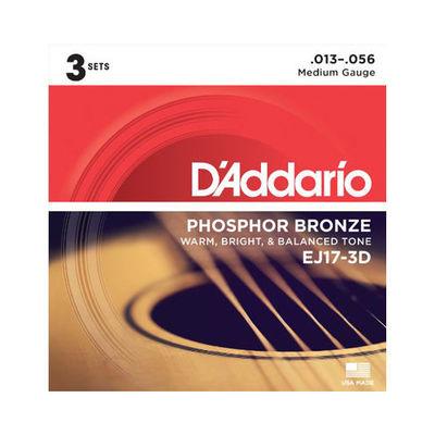 DADDARIO 【10個セット】D'Addario EJ17-3D アコースティックギター弦/ パック 0019954126070