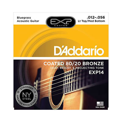 DADDARIO 【10個セット】ダダリオ/D'Addario EXP14 Coated 80/20 Bronze Light Top/Medium Bottom Bluegrass 12-56 アコギ弦 0019954970468