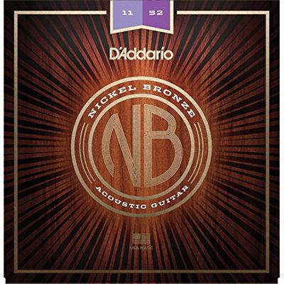 DADDARIO 【10個セット】ダダリオ/D'Addario Nickel Bronze Wound Acoustic Guitar Strings NB1152/Custom Light, 11-52 0019954182229