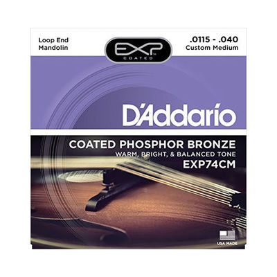 DADDARIO 【10個セット】D'Addario ダダリオ マンドリン弦 EXPコーティング フォスファーブロンズ Custom Medium .0115-.040 EXP74CM 0019954910099