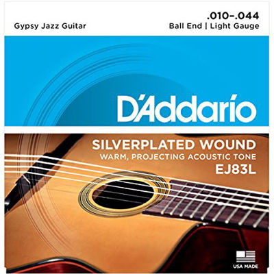 DADDARIO 【10個セット】D'Addario ダダリオ ジプシージャズギター弦 ボールエンド仕様 Light .010-.044 EJ83L 0019954953263