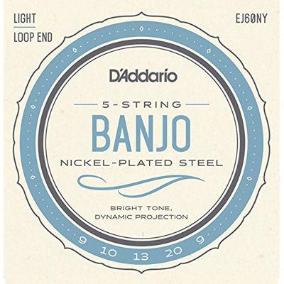 DADDARIO 【10個セット】D'Addario バンジョー弦 NY Steel ニッケル Light 5弦 .009-.020 EJ60NY 0019954982300