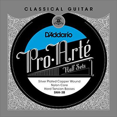 DADDARIO 【10個セット】D'Addario ダダリオ クラシックギター弦 Pro-Art Basses Half Sets 低音弦ハーフセット Nylon Core Silver Plated Copper Hard SNH-3B 0019954929916